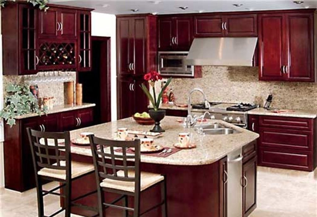 Legend Burgundy Kitchen Cabinets